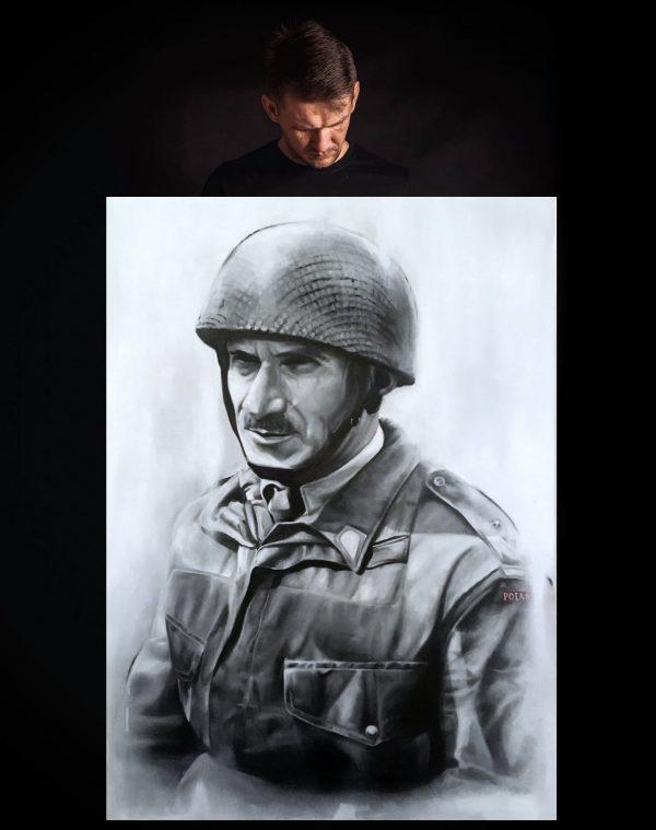 """OBRAZ """"GENERAŁ STANISŁAW SOSABOWSKI"""" Manwith Passion WORO Paweł Worobiej"""