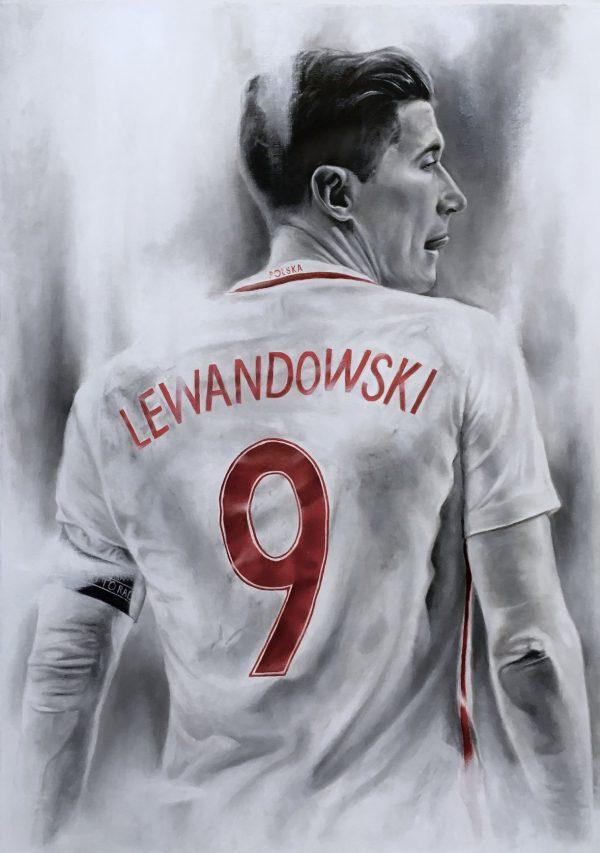 """OBRAZ """"LEWANDOWSKI"""" Manwith Passion WORO Paweł Worobiej"""